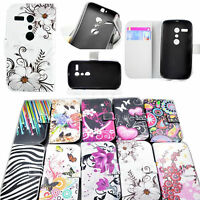 Magnetic Flip Wallet PU Leather Cover Case Phone Stand For Motorola Moto G