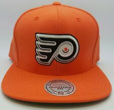 Philadelphia Flyers NHL  Mitchells & Ness Wool Solid Snapback Hat/Cap