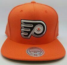 Philadelphia Flyers NHL  Mitchells & Ness Wool Solid Snapback Hat/Cap