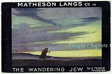 1922 Matheson Lang The Wandering Jew New Theatre Cambridge Advertising Postcard