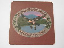 Beer COASTER ~ BIRDSVIEW Brewing Co ~ WASHINGTON ~ Eagle Carrying Pints in Claws