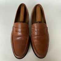 COLE HAAN Grand OS Aiden Leather Penny Loafers Tan Slip On Dress Shoes Mens 11.5