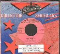 Paul & Paula - Hey Paula/All I Want Is You Vinyl 45 rpm record Free Shipping