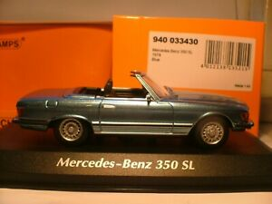 EXTREMELY RARE MAXICHAMPS 1/43 1974 MERCEDES-BENZ 350SL (R107) SUPERB DETAIL NLA
