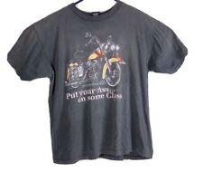 Vtg American Biker Put Your Ass on Some Class 3D Emblem Shirt XL 1993 Distressed