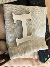 Hermes cintura fibbia argento 32MM PALADIUM mai indossato. con custodia di polvere