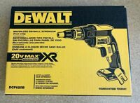 DeWALT DCF620B 20V Max* XR® Li-Ion Brushless Drywall Screwgun with Clip (Bare)