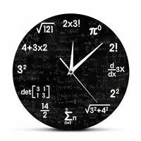 School Wall Clock Classrooms Watch Math Equations Designed Decoration Clocks New