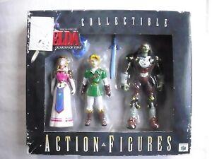 Legend of Zelda Ocarina of Time Action Figures Zelda, Link & Ganon NINTENDO N64