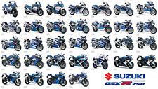 SUZUKI GSX-R 750 EVOLUTION 85-2016 MOTORCYCLE VINTAGE POSTER BROCHURE ADVERT A3