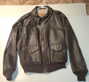 Cooper Type A-2 Commemorative WW II Bomber Jacket Brown 44 R  Goatskin Leather