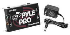 NEW Pyle PP999 Ultra Compact Phono Turntable Preamp Converts Phono to Line Level