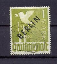 Berlin 17 (a) Schwarzaufdruck 1 Mark gestempelt geprüft Schlegel (qs132)