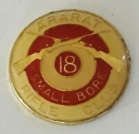 Ararat Small Bore Rifle Club 18 Gun Target Pin Badge Rare Vintage No Clasp (R10)