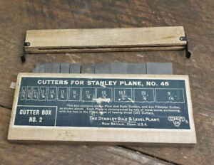 L702- Antique Stanley No. 45 Plane Cutters BOX # 2 Sweetheart