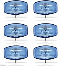 """to Fit SCANIA VOLVO DAF Man 24v 9.5"""" Jumbo Oval Blue ABS Spot Lamp LED X6"""