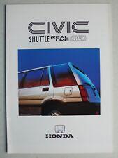 Prospekt Honda Civic Shuttle Real Time 4WD, ca.1987, 12 Seiten für Österreich