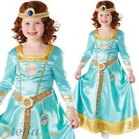 Girls Deluxe Disney Brave Princess Merida Book Week Kids Fancy Dress Costume