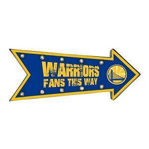 "Golden State Warriors Arrow Marquee Sign - Light Up - Room Bar Decor NEW 18"""