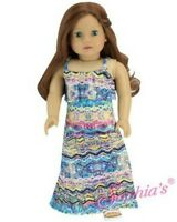 "Pastel Print Maxi Dress for American Girl Dolls & Other 18"" Dolls - For Lea!"