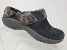 Merrell Encore Ripple Womens Slip On Mules Size 7 Black Suede Flats J55934
