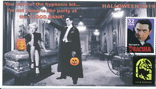 JVC CACHETS - 2019 HALLOWEEN COVERS FDC  VERY L.E. OF 12 - DRACULA & LANA TURNER