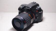 500 mm = 750 mm lente de vida silvestre en Sony A100 A200 A300 A350 A900 A500 A580 A700 A77