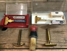 Lot Of 3 Mens Razors + 1 Womans Razor Eversharp Schick Curvfit Ever-Ready Brush