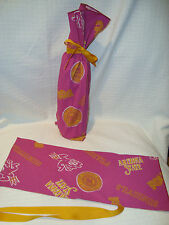 Arizona State Sundevils NCAA Cotton Fabric Wine/Gift Bag NEW