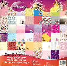 DISNEY MEGA #2 150 Sheet Paper Pad 12X12 Scrapbooking Paper Pad SANDYLION New