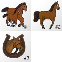 #2480IR Horse Pony Horseshoe Embroidered Sew Iron On Motif Patch Applique Badge