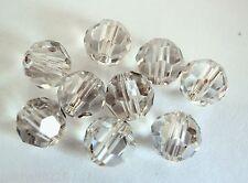 3 6 mm Swarovski 5000 Crystal Round Beads: Crystal Silver Shade