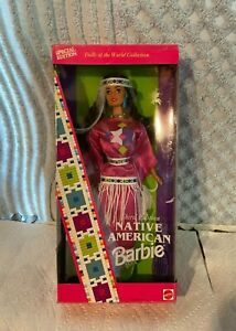 1994 Dolls of the World NATIVE AMERICAN BARBIE INDIAN DRESS 3rd Edition
