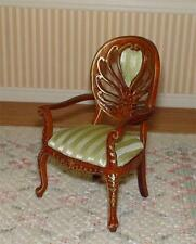 MINIATURE DOLLHOUSE 1:12 SCALE-VICTORIAN LIVING ROOM WALNUT CHAIR - P6043