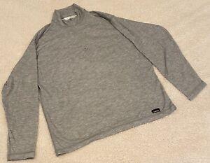 Polar Max Gray Outlast Base Layer 1/4 Zip Shirt Mens M Lightweight