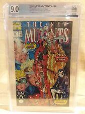 """New Mutants"" Issue #98 1st Appearance of Deadpool PGX Graded 9.0 Marvel 1991"