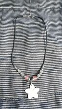 Delsol Color-Changing Necklace - Small Pink Flower Shell