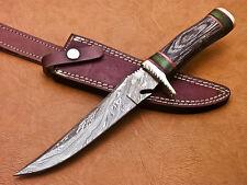 Rody Stan CUSTOM HAND MADE DAMASCUS STEEL HUNTING KNIFE | HARD WOOD | G-923