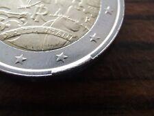 Italien Fehlprägung Rand 2 Euro 2008 Gedenkmünze / Italia error moneta coin BU