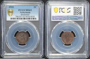 Netherlands: Cent bronze 1922 - PCGS MS63