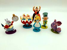 Disney Alice in Wonderland Figure Cake Topper Lot of 6: Mad Hatter Queen Rabbit