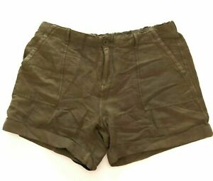Max and Mia Women's Cuffed Hem Stretch Waistband Short Size: M - Dusty Olive