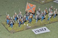 25mm ACW / confederate - american civil war inf plastic 16 figs - inf (12568)