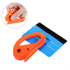 Vinyl Safety Cutter & Felt Edge Squeegee Scraper Car Wrapping Tools Professional