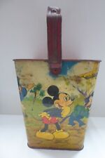 VINTAGE EARLY WILLOW TIN LITHO PRINT PLATE WALT DISNEY MICKEY MOUSE SAND BUCKET