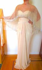 NEW JOVANI 111034 Long Gown Dress Prom Formal Pageant Size 4 Light Cafe