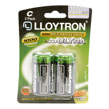 Lloytron NIMH AccuUltra (B016) C Rechargeable Battery - 3000mAh Pack of 2