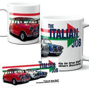 Italian Job Mini Cooper Mug Classic Car Movie Film Ceramic 11oz with Gift Box