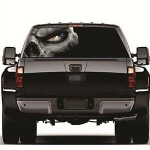 Horror Skull Rear Window Graphic Decal Sticker Decoration For Car Truck SUV Van