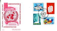 1970 United Nations Geneva Set-Ant 4 Stamp Cover Official Cachet Unaddressed Fdc